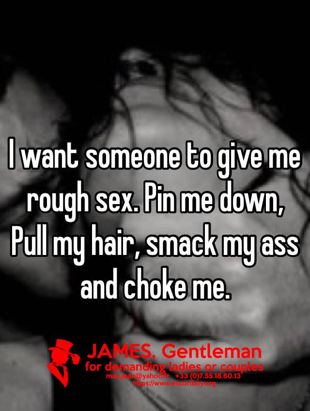 I want sex with an escort boy