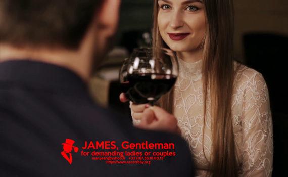 romantic dinner with a gentleman gigolo male escort boy