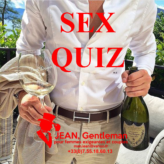 sex quiz with your male escort